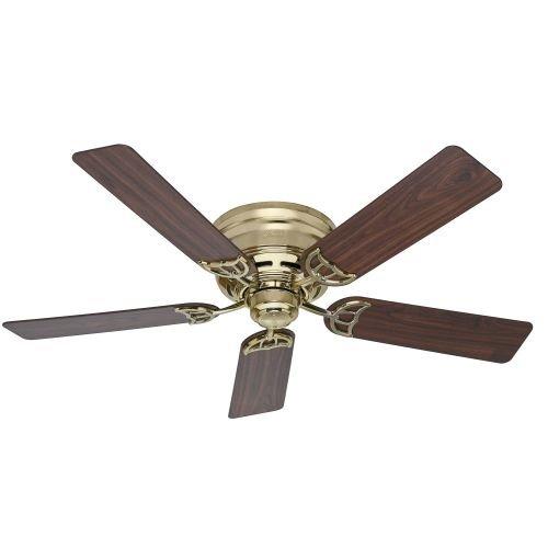 Hunter-53069-Low-Profile-III-White-Flush-Mount-52-Ceiling-Fan-0