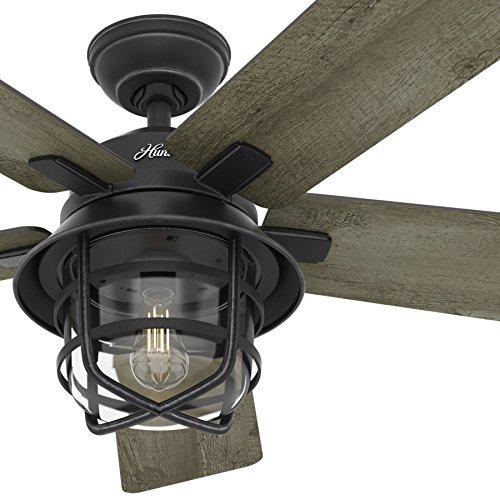 Hunter Fan 54 Weathered Zinc Outdoor Ceiling Fan With A