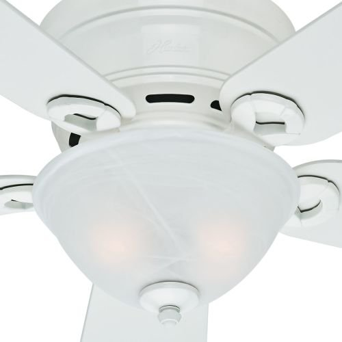 Hunter-Fan-Company-Conroy-42-Inch-Snow-White-Ceiling-Fan-with-Five-Snow-White-Blades-and-a-Light-Kit-0-2