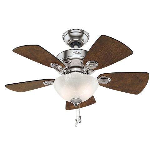 Hunter-Fan-Company-Watson-34-Inch-Snow-White-Ceiling-Fan-with-Five-Snow-WhiteBleached-Oak-Blades-and-a-Light-Kit-0-1