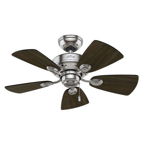 Hunter-Fan-Company-Watson-34-Inch-Snow-White-Ceiling-Fan-with-Five-Snow-WhiteBleached-Oak-Blades-and-a-Light-Kit-0-2