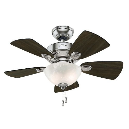 Hunter-Fan-Company-Watson-34-Inch-Snow-White-Ceiling-Fan-with-Five-Snow-WhiteBleached-Oak-Blades-and-a-Light-Kit-0