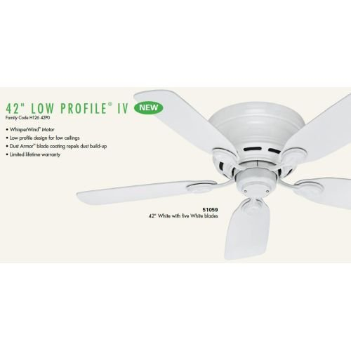 Hunter-Low-Profile-IV-5-Blade-Ceiling-Fan-0-0