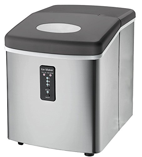 Ice-Machine-Portable-Counter-Top-Ice-Maker-MachineTG22-Produces-26-lbs-Of-Ice-Per-24-Hours-Stainless-Steel-By-ThinkGizmos-trademark-protected-0