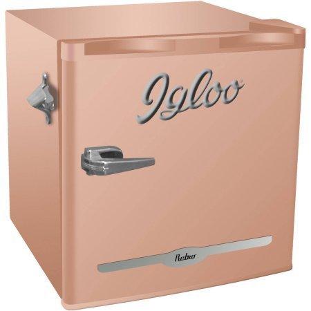 Igloo-16-Cu-Ft-Retro-Bar-Fridge-With-Side-Bottle-Opener-New-Coral-0