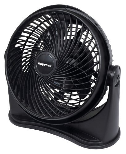 Impress-Table-Fan-with-a-3-speed-High-Velocity-Motor-and-Adjustable-Tilt-Black-0