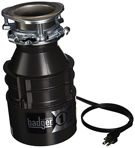 Insinkerator-BADGER1CORD-Household-Food-Waste-Disposer-with-Cord-13-Horsepower-Grey-0