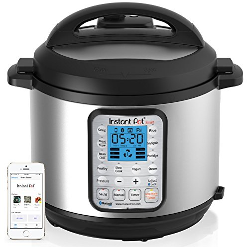 Instant-Pot-IP-Smart-Bluetooth-Enabled-Multifunctional-Pressure-Cooker-Stainless-Steel-0