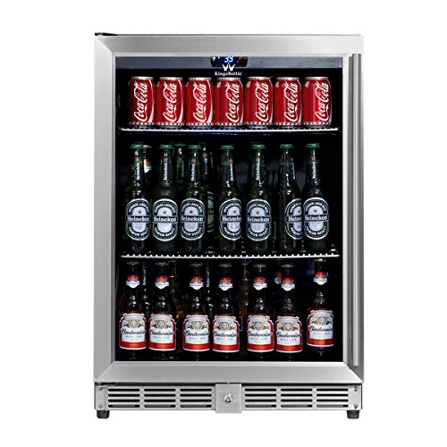 KingsBottle-160-Can-Beverage-Cooler-Stainless-Steel-with-Glass-Door-0-0