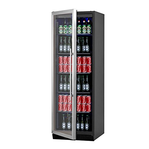 KingsBottle-450-Can-Beverage-Cooler-Stainless-Steel-with-Glass-Door-0-2