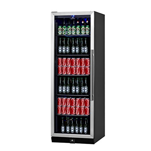 KingsBottle-450-Can-Beverage-Cooler-Stainless-Steel-with-Glass-Door-0