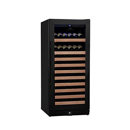 KingsBottle-98-Bottle-Single-Zone-Wine-Cooler-Borderless-Black-Glass-Door-0