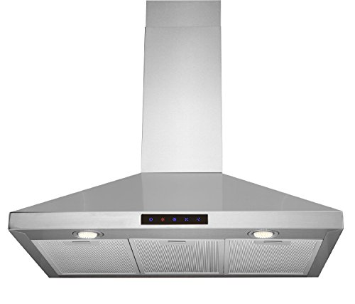 Kitchen-Bath-Collection-30-inch-Wall-mounted-Stainless-Steel-Range-Hood-with-Touch-Screen-Control-Panel-Capable-of-Vent-less-Operation-High-end-LED-Lights-Over-3x-Brighter-Than-Competing-Models-0-0