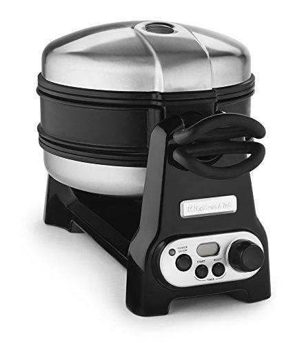 KitchenAid-KWB110OB-Waffle-Baker-with-CeramaShield-Nonstick-Coating-Onyx-Black-Discontinued-0