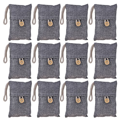 Kmise-All-Nature-Bamboo-Charcoal-Bag-Air-Freshener-Removes-Odor-Deodorizer-for-Car-Home-Closet-Bathroom-Shoe-Pet-Refrigerator-Bedroom-Gray-12-Pack-0