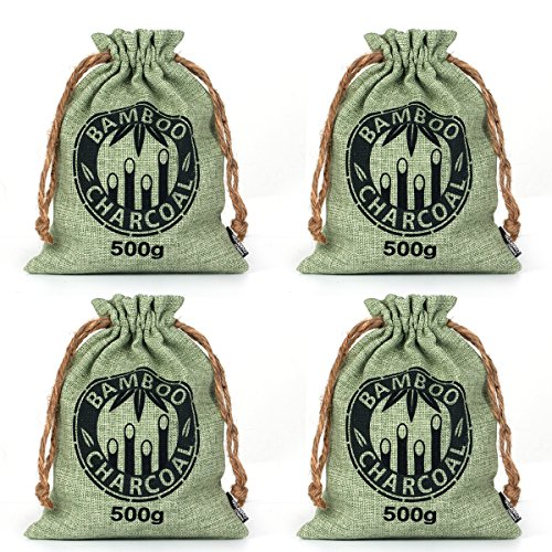 Kmise-Reusable-Bamboo-Charcoal-Bag-Odor-Deodorizer-Air-Purifying-Freshener-4-x-500g-All-Nature-Bamboo-for-Home-Cars-Closets-Bathrooms-and-Pet-Areas-0-7