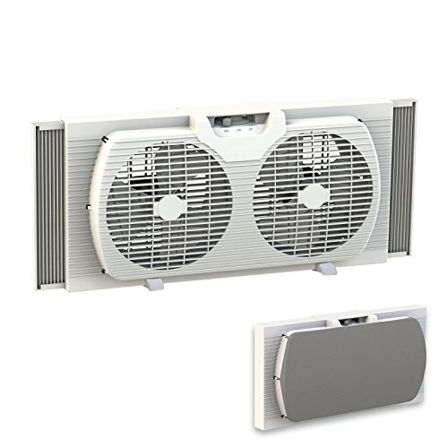 Knick-Knack-Supplies-Dual-Blade-9-Inch-Twin-Window-Fan-with-Cover-0