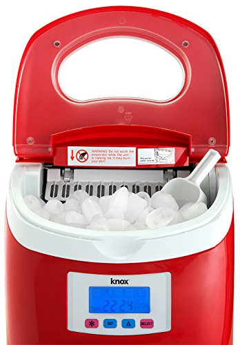 Knox-Portable-Compact-Ice-Maker-wLCD-Display-28-Liter-Water-Reservoir-3-Selectable-Cube-Sizes-Yield-of-up-to-265-Pounds-of-Ice-Daily-0-2