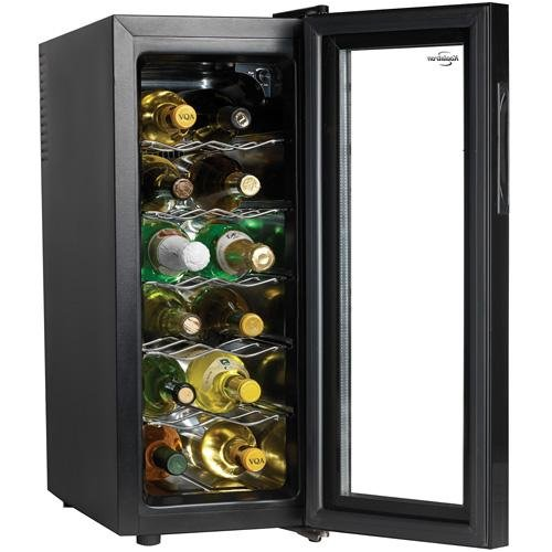 Koolatron-WC12G-Slim-Countertop-12-Bottle-Thermoelectric-Wine-Cellar-Black-0