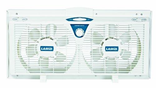LaskoTM-2138-8-Electrically-Reversible-Twin-Window-Fan-with-Thermostat-2-Speed-Lasko-2138-8-by-Greenlee-0