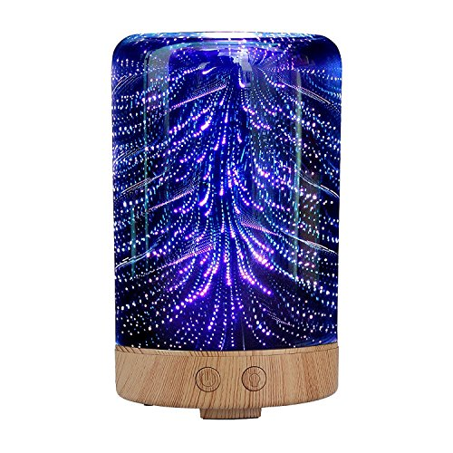 Lemonda-Night-light-Ultrasonic-Essential-Oil-DiffuserEssential-Oil-Ultrasonic-Cool-Mist-Humidifier-with-3D-16-Color-Changing-Starburst-LED-Lights-0