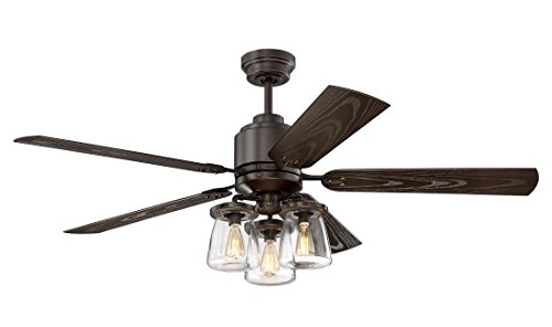 Litex Cos52osb5cr Andrus 52 Indoor Outdoor Ceiling Fan With Remote Control Five Dark Bronze