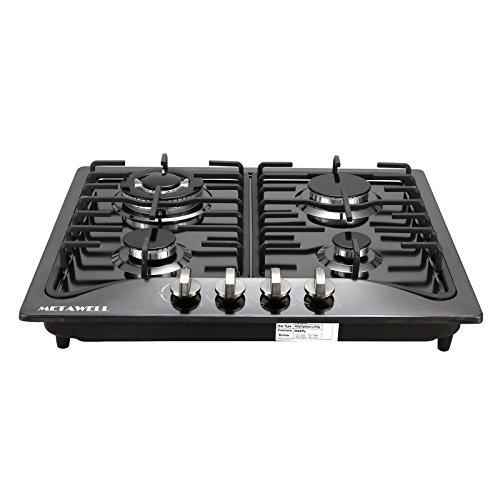 METAWELL-EuroStyle-23-Black-Titanium-Stainless-Steel-4-Burners-Built-In-Stove-NGLPG-Gas-Hob-Cooktop-0-0