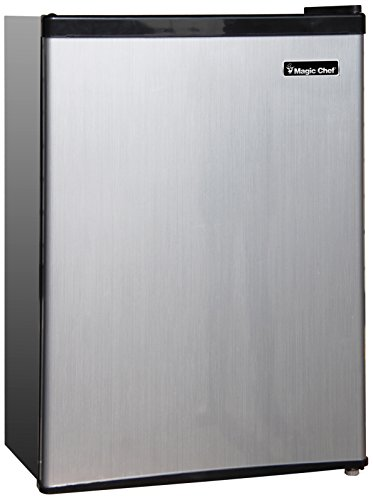 Magic-Chef-MCBR240S1-Refrigerator-24-cuft-Stainless-Look-0