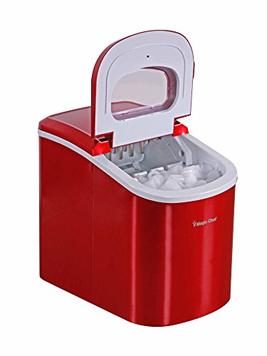 Magic-Chef-MCIM22R-Ice-Maker-27-lb-Red-0-1