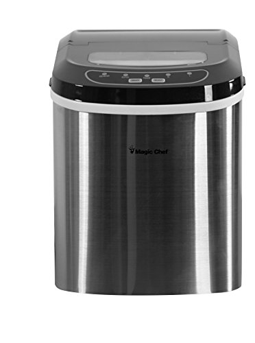 Magic-Chef-MCIM22ST-27-lb-Ice-Maker-Stainless-Steel-0