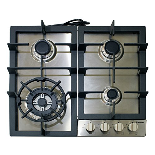 Magic-Chef-MCSCTG24S-24-Gas-Cooktop-with-4-Burners-Stainless-Steel-0