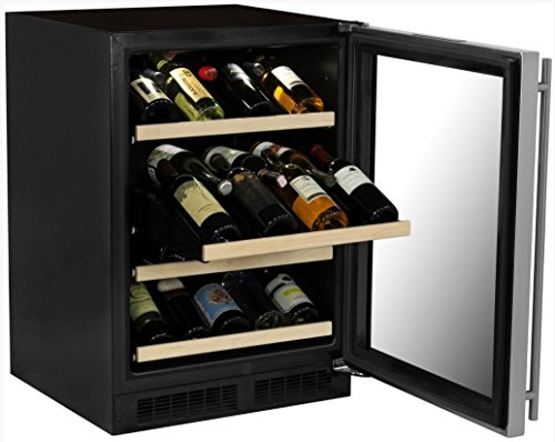 Marvel-ML24WSG1RS-Gallery-Single-Zone-Wine-Cellar-24-Stainless-Steel-0-0
