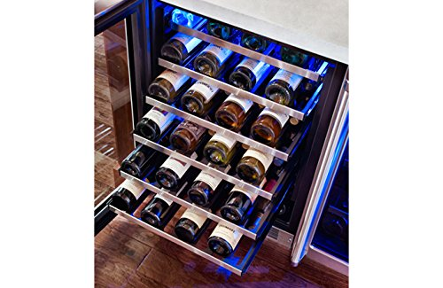 Marvel-MP24WSG4RS-Professional-Single-Zone-Wine-Cellar-Framed-Glass-Door-24-Stainless-Steel-0-0