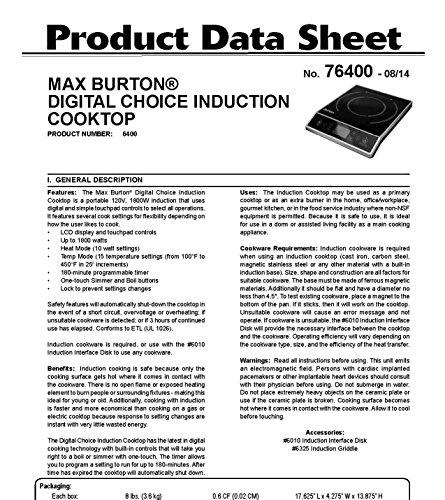 Max-Burton-6400-Digital-Choice-Induction-Cooktop-1800-Watts-LCD-Control-0-0