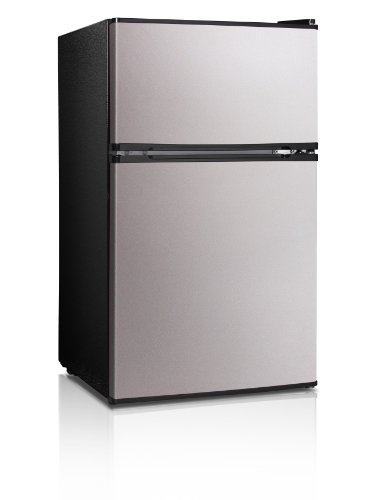 Midea-WHD-113FSS1-Double-Reversible-Door-Refrigerator-and-Freezer-31-Cubic-Feet-Stainless-Steel-0