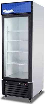 Migali-C-23RM-Competitor-Series-Refrigerator-Merchandiser-27-W-230-cu-ft-Capacity-1-Hinged-Glass-Door-White-SidesWhite-InteriorBlack-Front-0