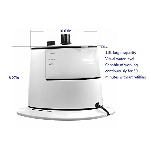 Miraguar-Fabric-SteamerStanding-Garment-Steamer-with-Fabric-Brush-and-Garment-Hanger-White-and-BlackElectric-Iron-for-Home-and-Travel-0-1