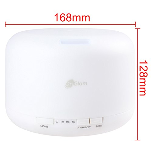 Mist-Humidifier-BANGWEIER-24Mhz-Ultrasonic-500ML-9-LEDs-7-Colorful-Light-Changing-Oil-Aroma-Diffuser-with-Adjustable-Spraying-Direction-0-2