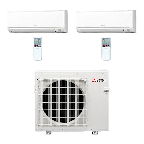 Mitsubishi-MXZ4C36NA-2WS-18-36000-BTU-MR-SLIM-Dual-Zone-Ductless-Mini-Split-Air-Conditioner-Heat-Pump-208-230V-18-18-0