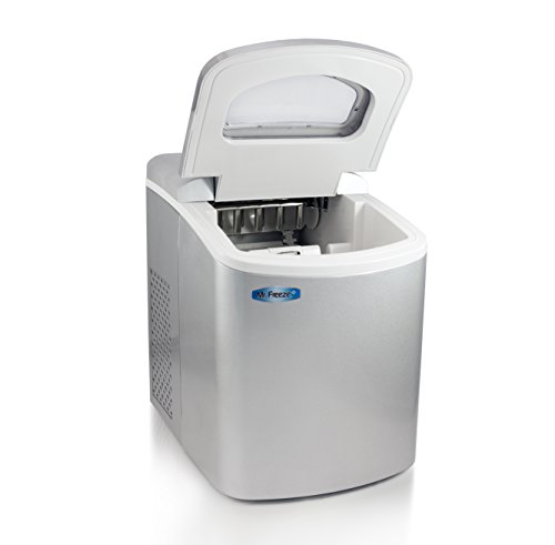Mr-Freeze-MIM-18SI-Maxi-Matic-Portable-Automatic-Ice-Maker-with-Lid-Silver-Stainless-Steel-0-0