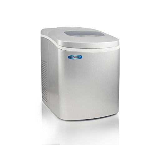 Mr-Freeze-MIM-18SI-Maxi-Matic-Portable-Automatic-Ice-Maker-with-Lid-Silver-Stainless-Steel-0