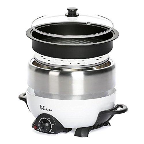 Muiti-Functional-Hot-Pot-Cooker-With-Non-Stick-Grill-PanShabu-Shabu-Hot-Pot-By-CH-0