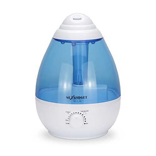 NEXGADGET-Ultrasonic-Cool-Mist-Humidifier-1-Gallon-Mute-Auto-Shut-off-Night-Light-Function-BlueWhite-0