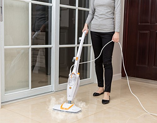Neatec-Steam-Mop-USM12O-Multifunction-Upright-and-Handheld-Steam-Cleaner-Orange-White-0-2