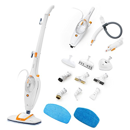 Neatec-Steam-Mop-USM12O-Multifunction-Upright-and-Handheld-Steam-Cleaner-Orange-White-0
