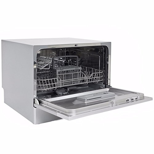 New-Countertop-Dishwasher-Silver-Portable-Compact-Energy-Star-Apartment-0-1