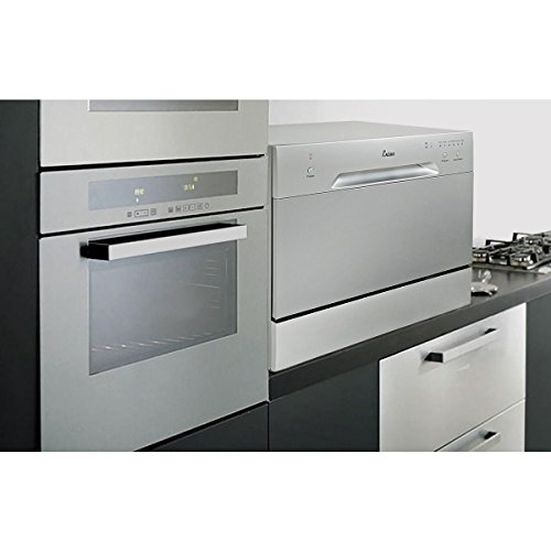New-Countertop-Dishwasher-Silver-Portable-Compact-Energy-Star-Apartment-0