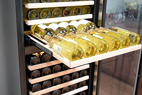 NewAir-AWR-1600DB-Premier-Gold-Series-160-Bottle-Built-In-WIne-Cooler-StaInless-SteelBlack-0-0