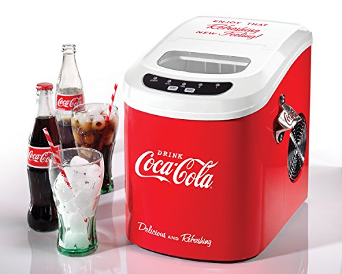 Nostalgia-ICE100COKE-Coca-Cola-26-Pound-Automatic-Ice-Cube-Maker-0-0