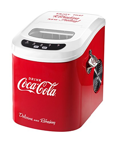 Nostalgia-ICE100COKE-Coca-Cola-26-Pound-Automatic-Ice-Cube-Maker-0